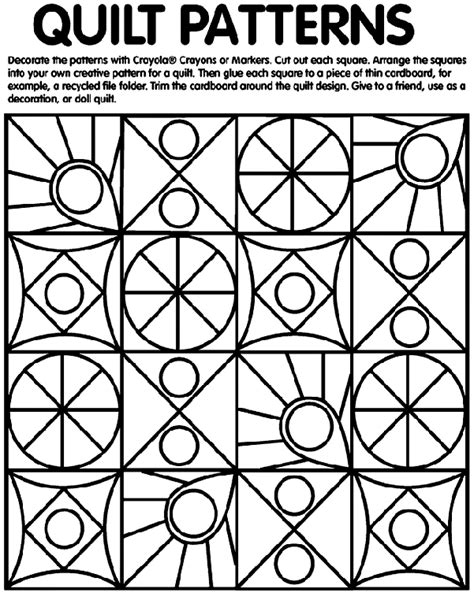 pattern coloring pages kindergarten the rag coat quilt patterns coloring page on crayola