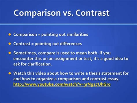 How To Organize A Compare And Contrast Essay by Week 8 Comparison Contrast Essay
