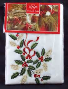 Lenox Table Linens Lenox Fine Table Linens White Christmas Tablecloth 60x102