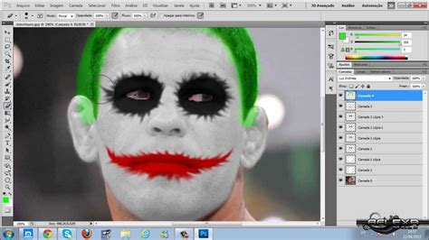 joker tutorial photoshop cs5 tutorial photoshop cs5 maquiagem do coringa joker