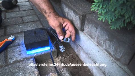 beleuchtung einfahrt pflaster au 223 enbeleuchtung f 252 r pflastersteine mit led selber machen