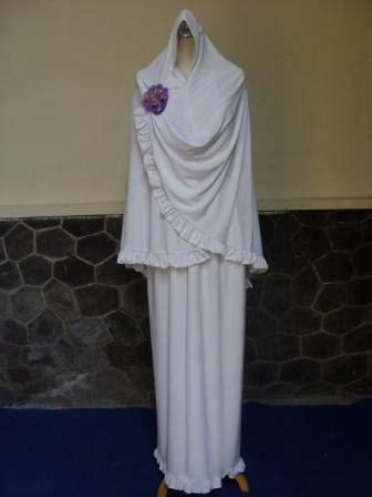 Gamis Katun Marwa Syari Fit To Xl Besar Ori By Ayudia 1 termurah set gamis umroh syari putih plus baju bayi