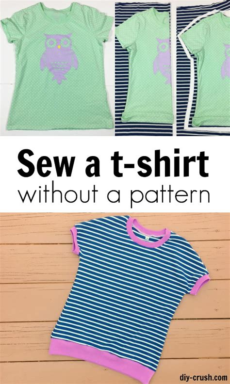 youtube shirt pattern how to sew a t shirt without a pattern diy crush