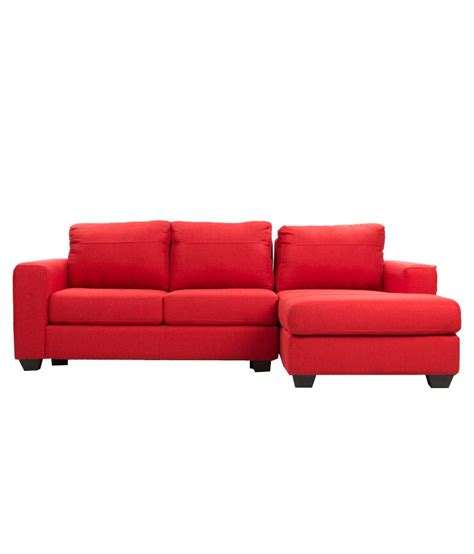 2 seater chaise clarke premium 2 seater sofa with left chaise lounge buy
