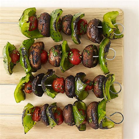 vegetables kabobs grilled vegetable kabobs recipes weight watchers