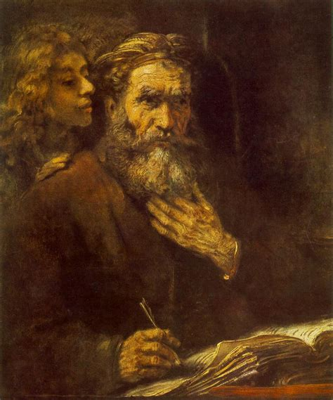 engel painting st matthew and the 1661 rembrandt wikiart org