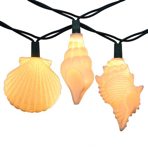 10 string lights sea shells string lights 10 lights