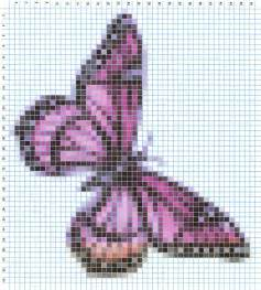 Counted Cross Stitch Ornament Free Patterns - embroidery pattern butterfly free embroidery patterns