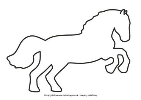 horse template 3 chinese new year pinterest applique