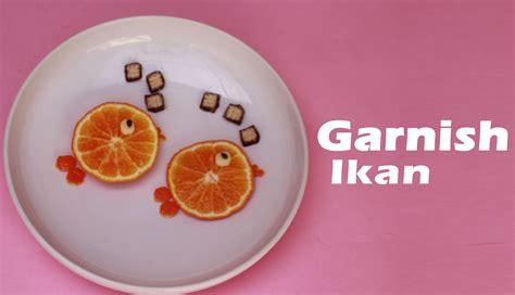 Pisau Garnish tata boga garnis dari buag jeruk
