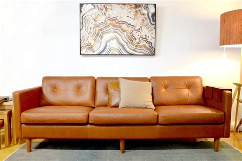 leather couch moisturizer svensen retro mid century aniline leather couch sofa
