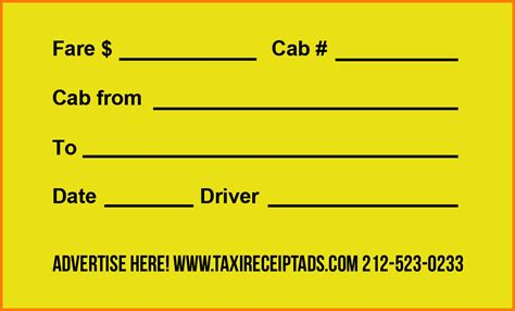 Seatac Taxi Receipt Template by Yellow Cab Receipt Template Ideal Vistalist Co