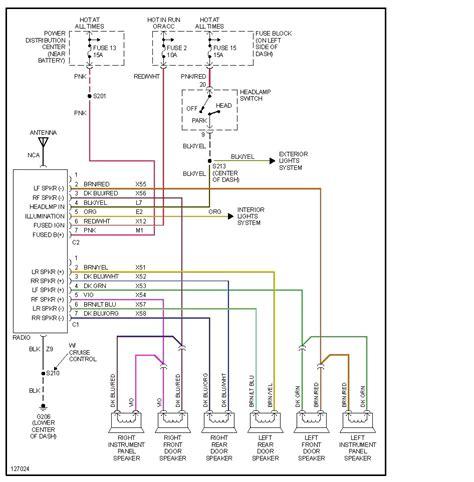 dodge ram  radio wiring diagram  wiring diagram