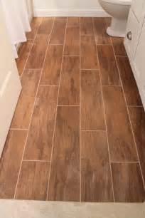 wood tile bathroom floor remodelaholic bathroom renovation with wood grain tile