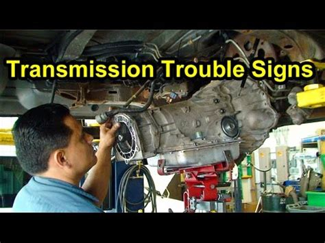 transmission trouble signs checking fluid level color