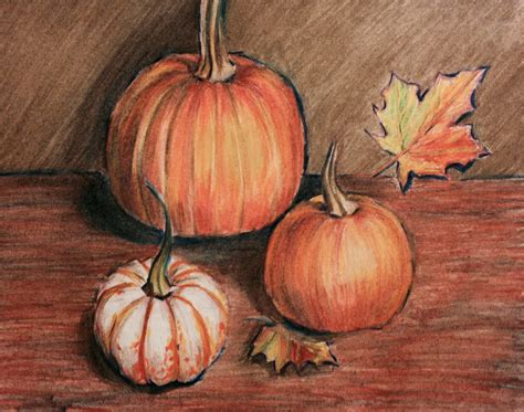 colored pumpkins fall pumpkins and colored pencils andrew horvath