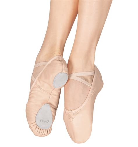 ballet slipper quot cobra quot leather split sole ballet slippers shoes