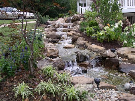 backyard ponds with waterfalls pictures backyard waterfalls stream flowing away from