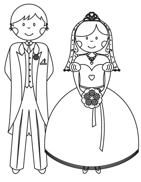 Wedding Coloring Pages Bride And Groom Wedding Coloring Pages To Print