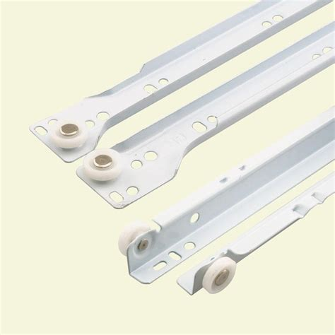 Undermount Drawer Slides Home Depot Prime Line 20 In White Bottom Mount Drawer Slides Set R
