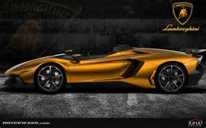 Gold Lamborghini Pictures Lamborghini Aventador J Gold And More Motorward