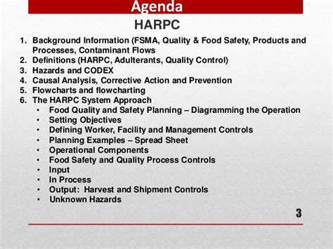 Harpc Pictures To Pin On Pinterest Pinsdaddy Food Safety Plan Template Fsma