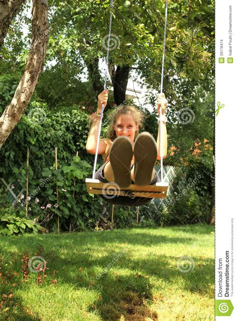 sit and swing girl on swing stock images image 26178474