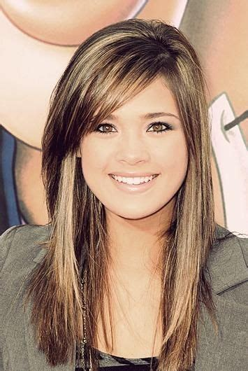 long hair sweeped side fringe shaved 12 fantastic long hairstyles with bangs side bangs long