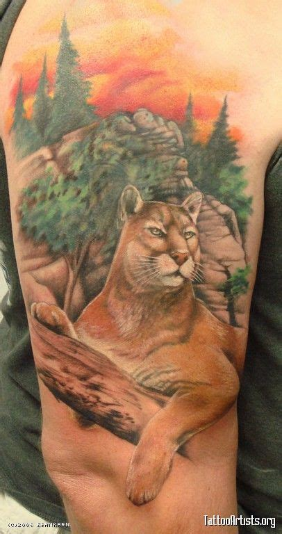 mountain lion tattoo pin by amanda artz on l ve lions and
