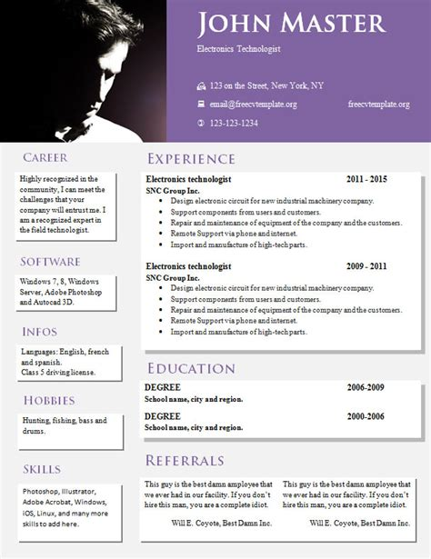 creative design resume templates 813 819 free cv template dot org