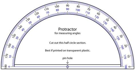 printable protractor small printable protractor homeschool math pinterest search