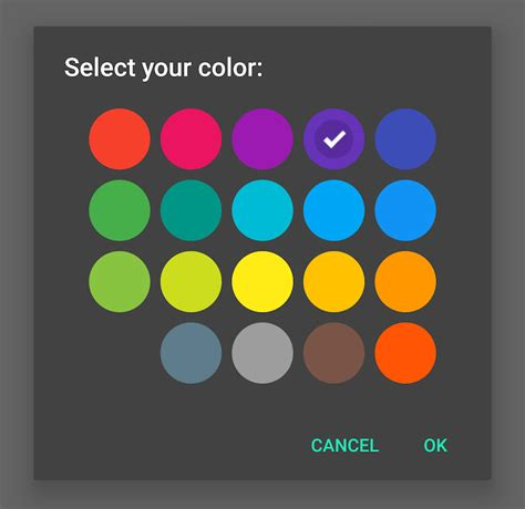 color scheme selector pickers materialdoc