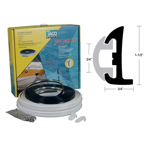 boat rub rail replacement taco black rub rail kit semi rigid vinyl 9795 260 0894