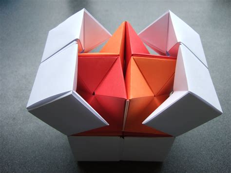 How To Make A Paper Moving Cube - origami origami flexicube david
