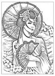 japanese coloring book free coloring page coloring geisha japan tatoo a