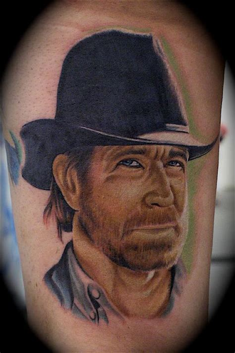 texas rangers tattoo 10 kick chuck norris tattoos