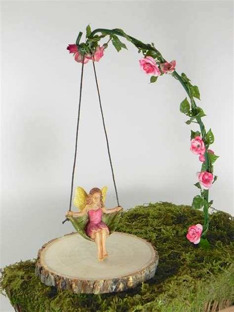 Garden Accessories Garden Accessories Miniature Swing With Artificial