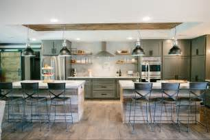 kitchen with two islands fixer chip and joanna gaines on joanna