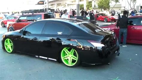 custom nissan maxima 2010 dubsandtires com 20 quot staggered rohana rc5 custom paint