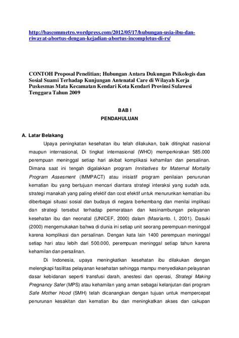 Contoh Layout Proposal Penelitian | contoh proposal penelitian hub