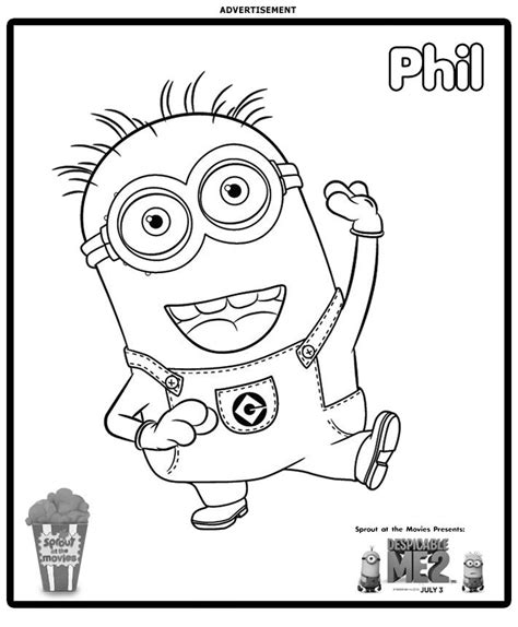 minions stuart playing guitar coloring page 01 phil dm2 satm coloringpg jpg 712 215 863 minions