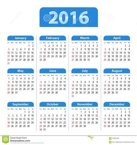 english calendar 2016 design stock vector image 61777684 blue glossy english calendar for 2016 stock vector image