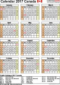 Calendars That Work Portrait Canada Calendar 2017 Free Printable Excel Templates