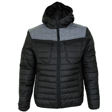 Mens Lightweight Quilted Jacket by Mens Threadbare Padded Quilted Hooded Lightweight Puffa