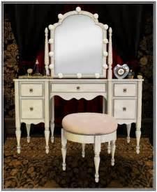 Vanity Set Light Bulbs Light Bulb Mirror Dressing Table Home Design Ideas