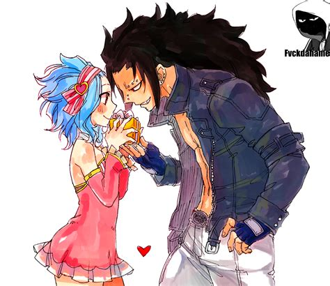 gajeel and levy levy and gajeel render by fvckfdaname on deviantart