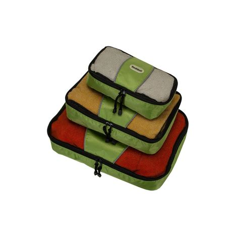 Set Of 3 Packing Cubes rockland packing cubes set of 3 u01 lime the home depot