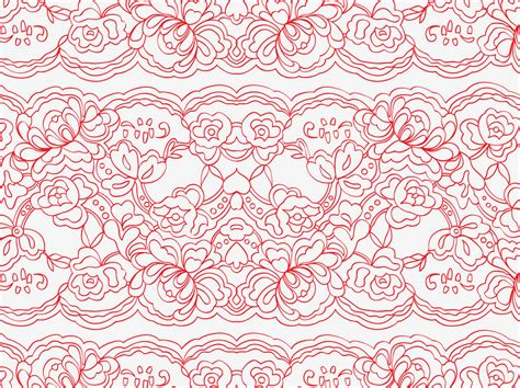 Lace Pattern Vector Art | vector lace pattern