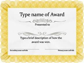 template for award certificate psd award certification template