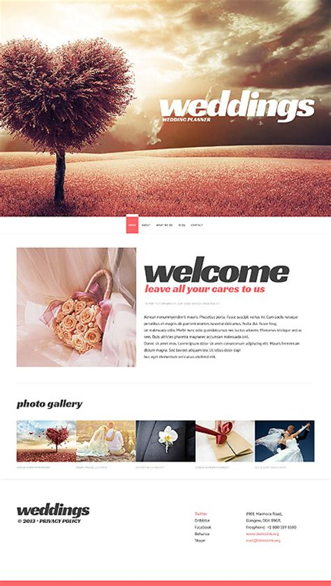 wedding site template white wedding planner website template by cowboy wedding